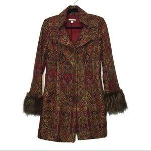 Andrea Behar Boston Proper Floral Tapestry Coat
